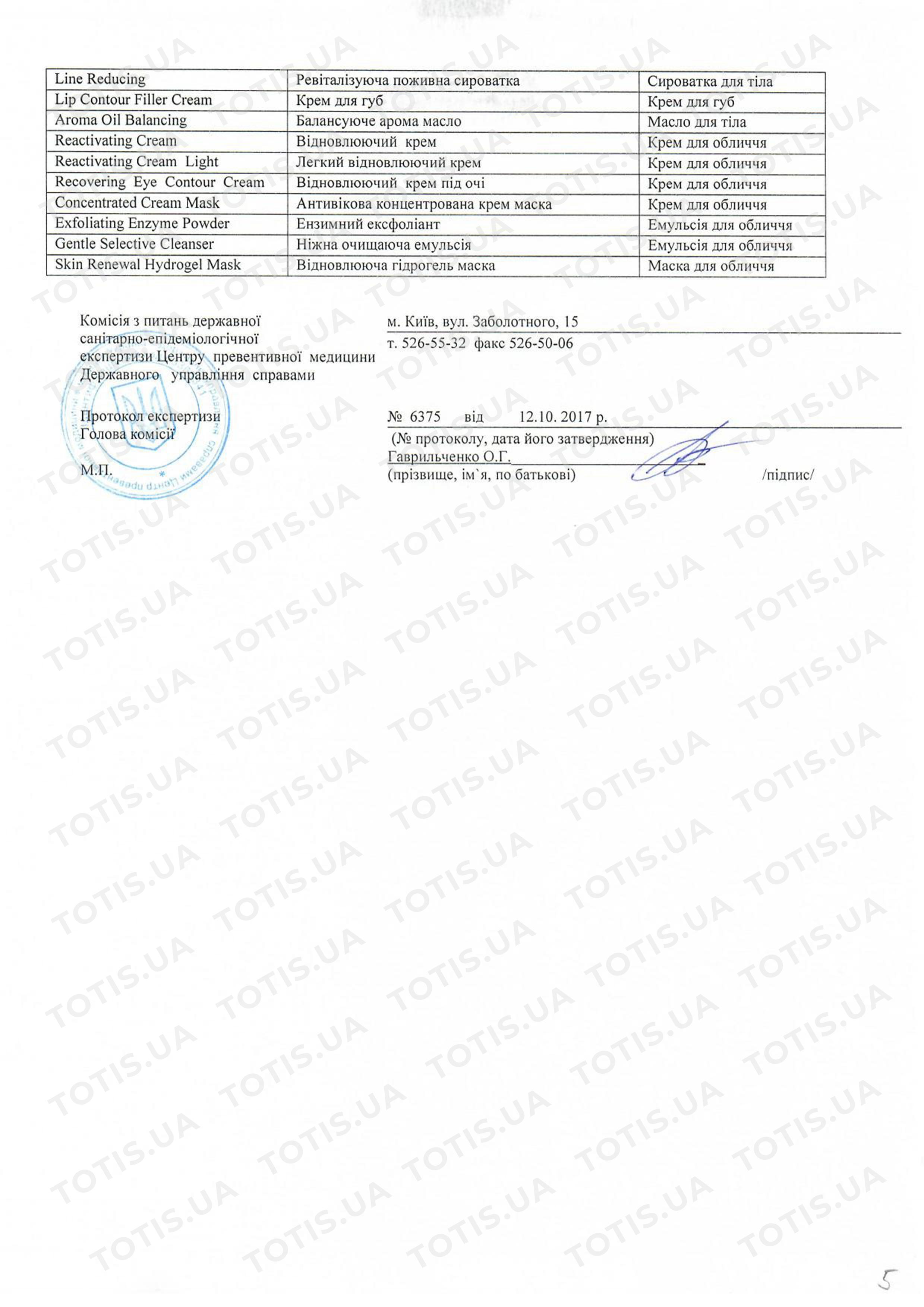 сертификат косметики доктор шпиллер